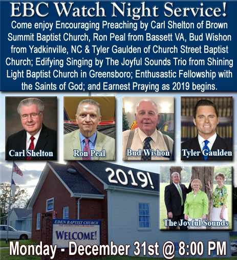 Eden Baptist Church - Eden, NC - Watch Night Service! @ Eden | North Carolina | United States